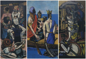 Max Beckmann  Departure, Frankfurt 1932, Berlin 1933-35  The Museum of Modern Art, New York. Given anonymously (by exchange)  Digital Image © 2014 The Museum of Modern Art/Licensed by SCALA/ Art Resource, NY  © 2014 Artists Rights Society (ARS), New York/VG Bild-Kunst, Bonn
