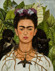 Self-¬Portrait with Thorn Necklace and Hummingbird, 1940 Harry Ransom Center, The University of Texas at Austin ©  2014  Banco de México Diego Rivera Frida Kahlo Museums Trust  Mexico, D.F. / Artists Rights Society (ARS), New York