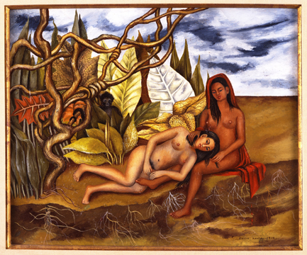 Two Nudes in a Forest, 1939 Collection of Jon Shirley © 2015 Banco de México Diego Rivera Frida Kahlo Museums Trust Mexico, D.F. / Artists Rights Society (ARS), New York